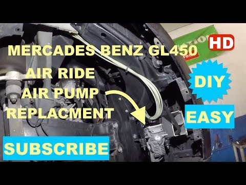 How To Replace Air Suspension Pump, Air Suspension Compressor On Mercades Benz GL450