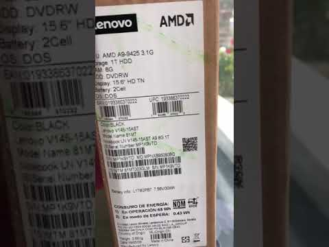 Unboxing & Review Lenovo V145-15AST