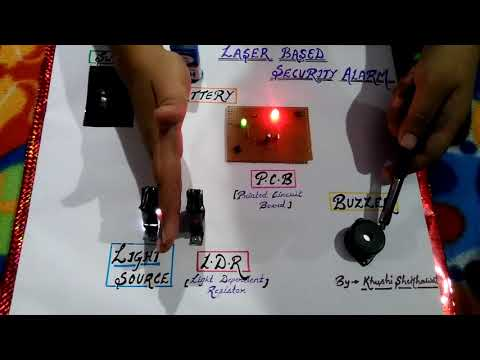How to make simple ldr circuit class 12 project