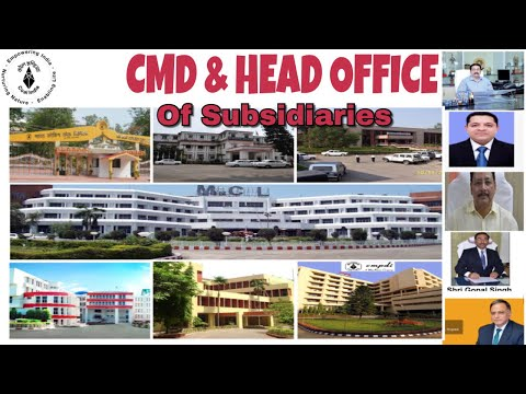 COAL INDIA LIMITED - SUBSIDIARIES- HEAD OFFICE - CMD || important for mining Sirdar exam