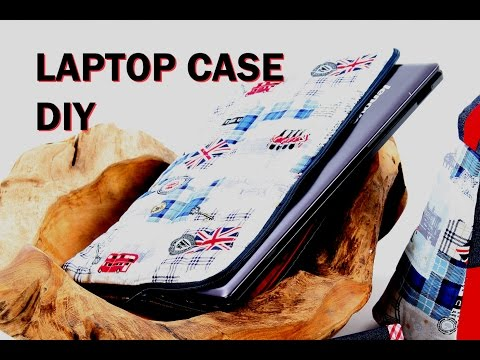 Laptop Case / fits up to 15' / DIY / Patterns avaliable via website