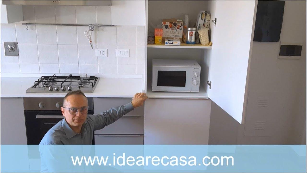Mobiletto Per Appoggiare Microonde microwave oven in the pantry column - installation