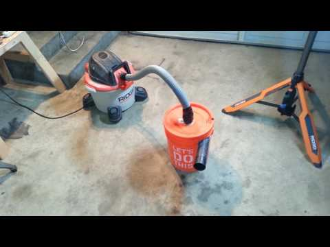 DIY Dust Collector/Separator home made in less than 20 minutes with a bucket and spare vacuum parts