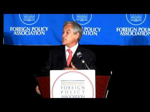 WLF VIDEO---Dinner in Honor of H.E. Sebastián Piñera, President of Chile