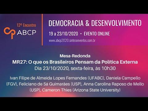 MR27 - O que os Brasileiros Pensam da Política Externa
