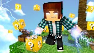 Minecraft: SOU UM DEUS DO RAIO !! ( Sky Wars Lucky Block)