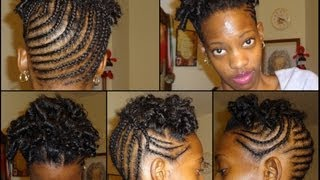 Curly Braided Updo On Natural Short Hair .