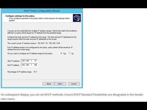 How to Configure DHCP Policy Based Assignment Windows Server 2012