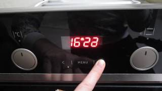 установка времени на духовке