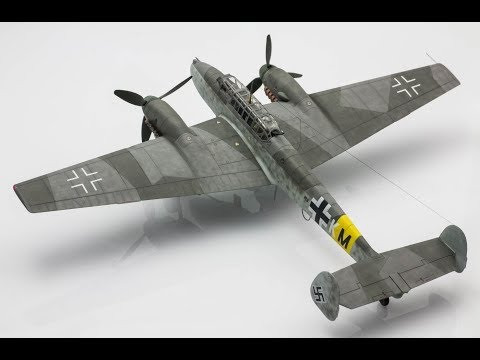Bf 110G-2 Eduard 1/72 Step by Step Scale Model Aircraft Build