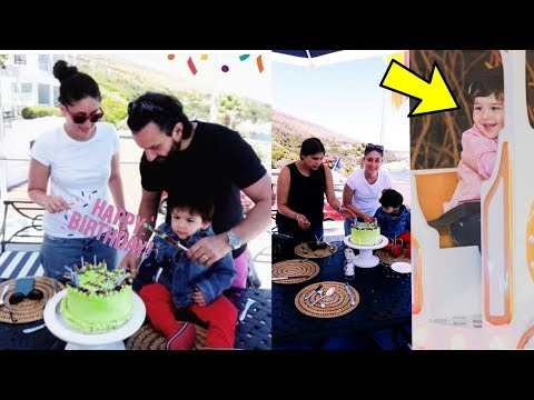 TAIMUR ALI KHAN cutting his 2nd birthday with Saif and Kareena in Cape Town