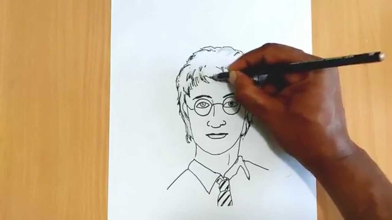 How To Draw Harry Potter Youtube