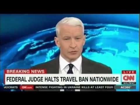 Federal Judge Strikes Down President Trump's Travel Ban   Anderson Cooper CNN
