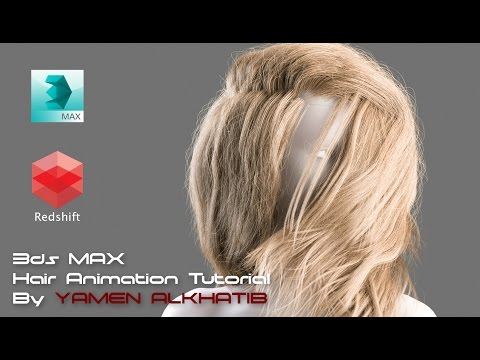 CGLYO - Animating realistic female hair tutorial with 3d Max & Redshift