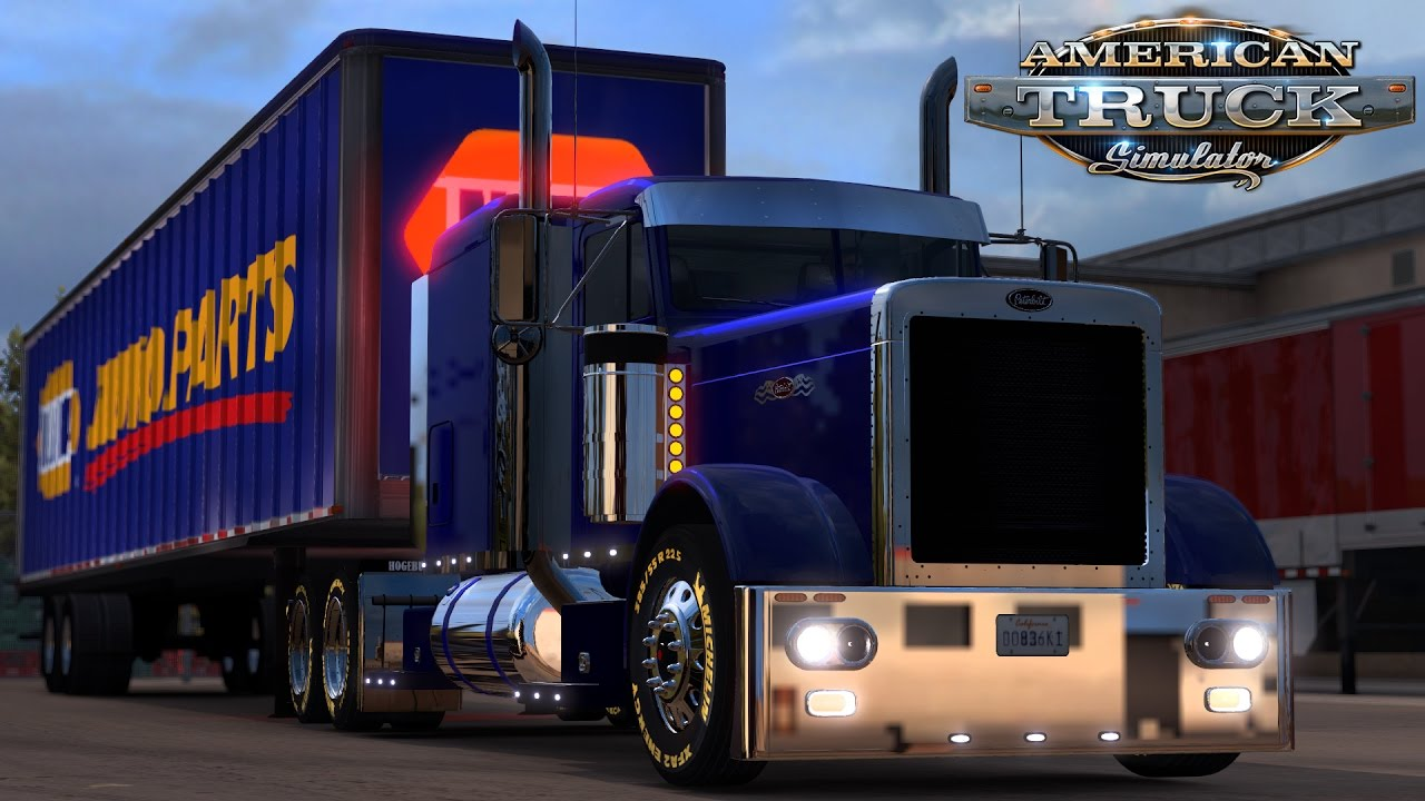 American Truck Simulator: Peterbilt 379 - NAPA Auto Parts - Amarillo to Lubbock Texas - YouTube