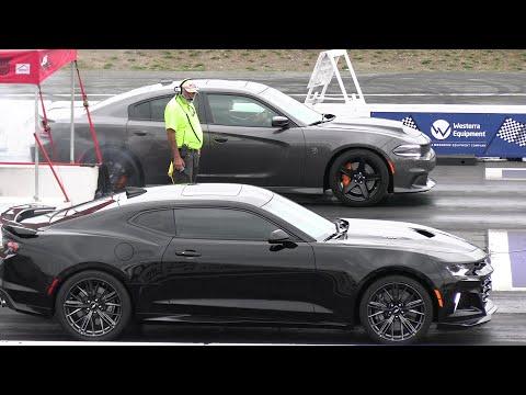 Hellcat vs 2019 ZL1 and vs Shelby GT500 – drag race