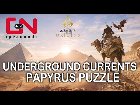 Assassin's Creed: Origins Underground Currents Papyrus Puzzle - How to solve