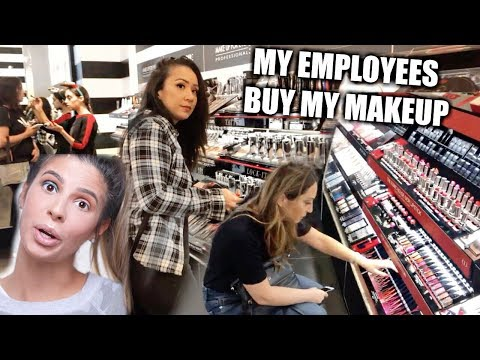 MY EMPLOYEES BUY MY FULL FACE OF MAKEUP!!! LAURA LEE thumbnail