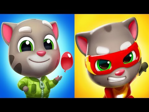 Talking Tom Splash Force VS Talking Tom Hero Dash