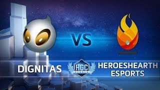 HGC Finals 2018 - Game 1 - Team Dignitas vs. HeroesHearth Esports - Group Stage Day 2