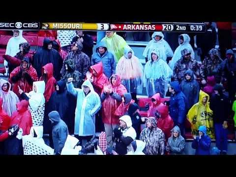 Arkansas vs Missouri Alex Collins run for a score