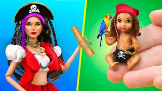 11 DIY Baby Doll Hacks and Crafts / Pirate Family and Treasure Map