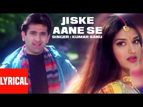 Jiske Aane Se Lyrical Video | Diljale | Kumar Sanu | Ajay Devgn, Sonali Bendre