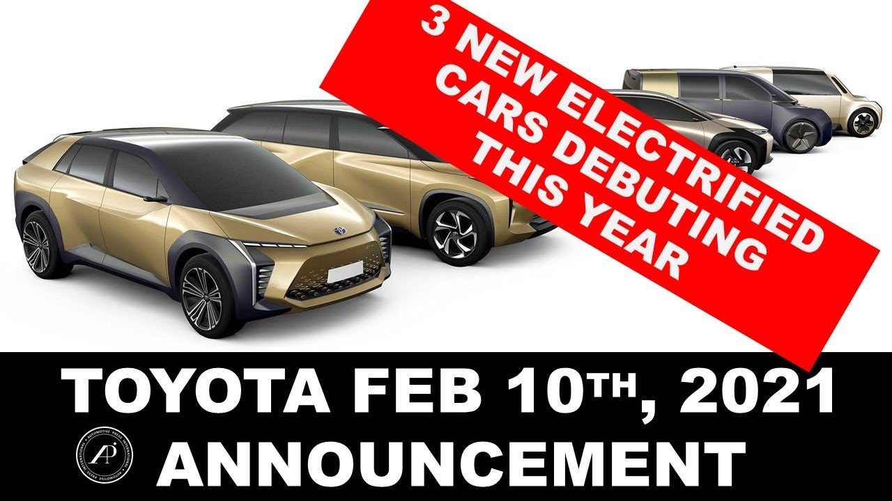 Toyota's Big Announcement today at NADA - 3 All New Electrified Vehicles will Debut This Year