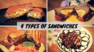 4 TYPES OF EASY AND QUICK SANDWICHES #RECIPE 20