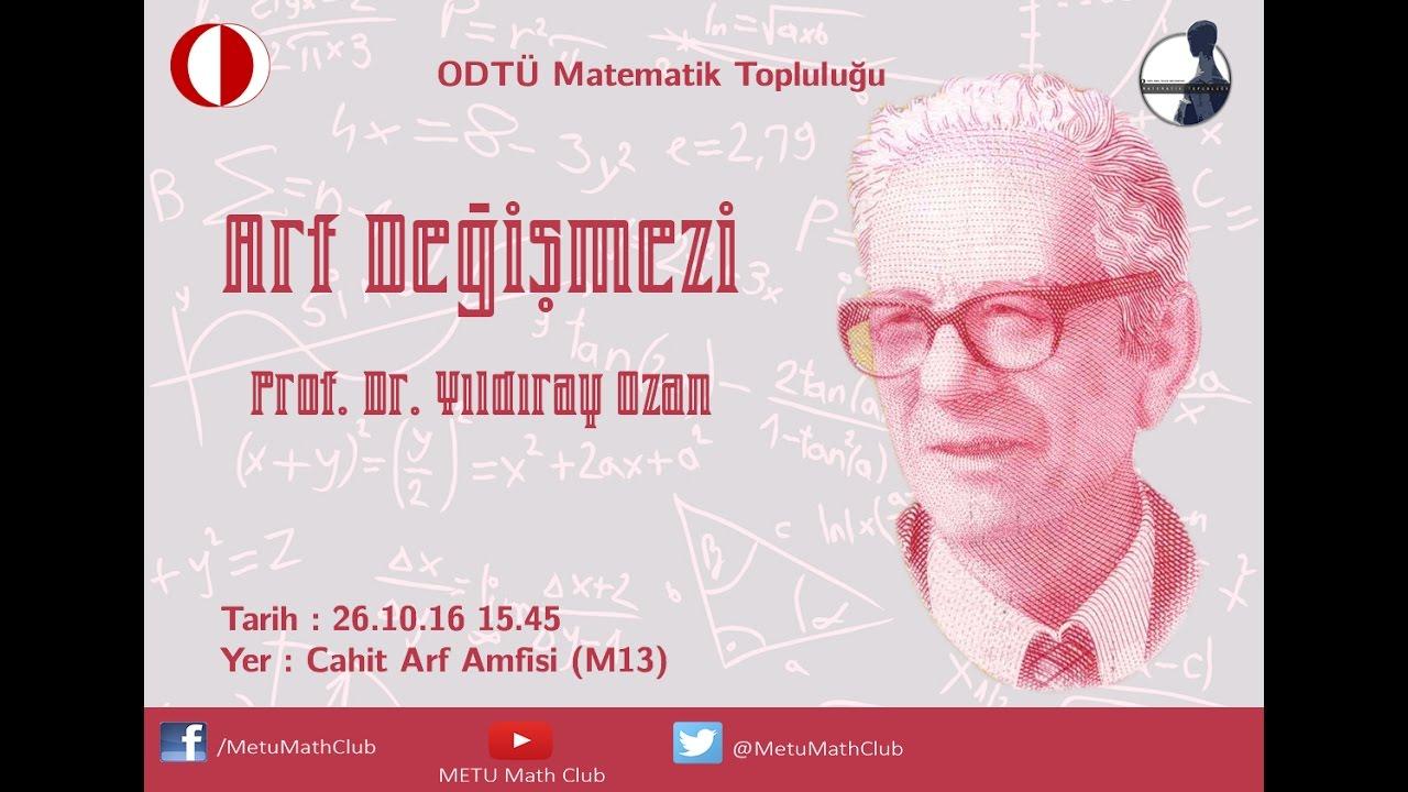 Arf Değişmezi Prof Dr Yıldıray Ozan Part 1 Youtube