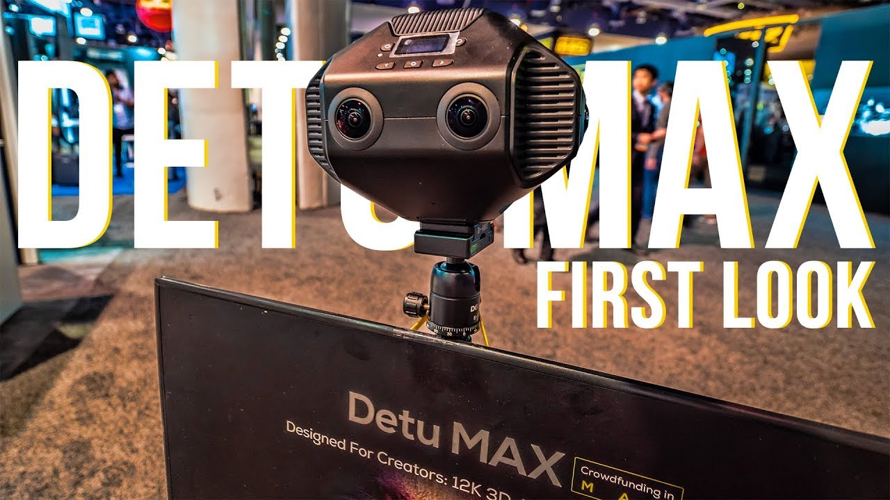 Detu MAX 12K 3D 360 VR Camera (with AI Chip) First Look | NAB 2018