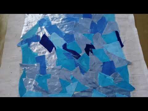 Картина из лоскутков ткани, небольшой мк, как делаю это я.