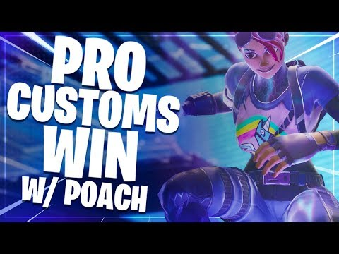 Pro Customs Win With Poach! | Fortnite Battle Royale