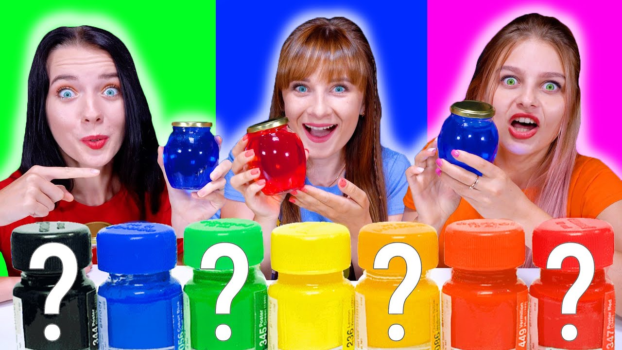 ASMR MYSTERY COLORED WATER | EATING SOUNDS LILIBU
