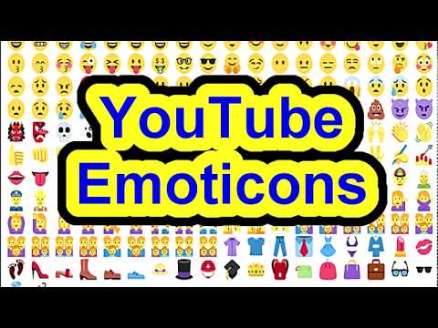 YouTube EMOJI ✩☻∞❁❤︎♛🌽😜😎 Emoticon Comment EASY - Copy & Paste Chat or Post How to where find!