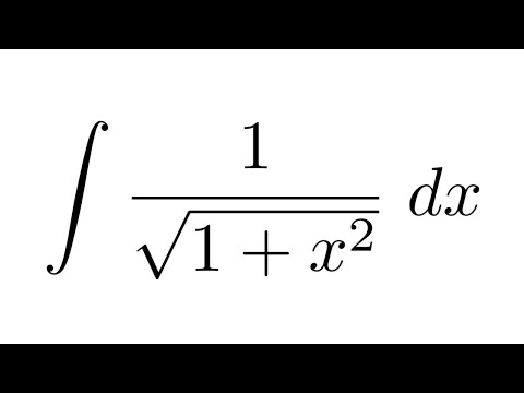 Integral Of 1sqrt1x2 Substitution Substitution Youtube