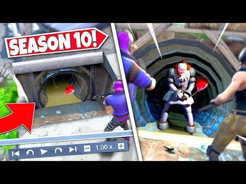 *NEW* CREEPY TUNNEL ENTRANCE *UNCOVERED* REVEALING PENNYWISE SECRET LOCATION! SEASON 10 UPDATE!: BR