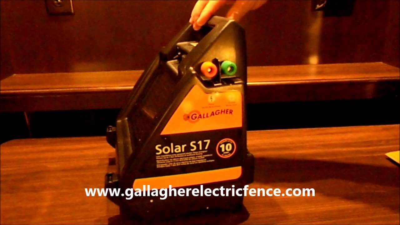Gallagher S17 Solar electric fence charger on