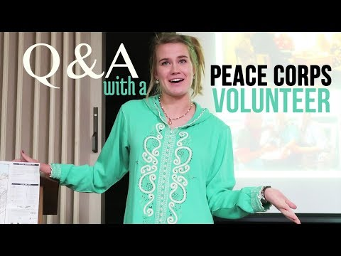 {Q & A}  with a Peace Corps Volunteer