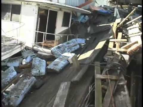 Sea Village Marina, Hurricane sandy storm damage, raw video, 10-21-2012.