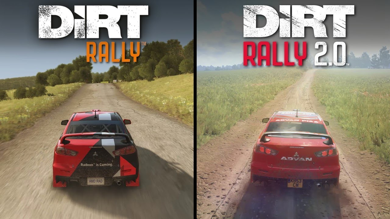dirt rally 2 0 vs dirt rally direct comparison youtube. Black Bedroom Furniture Sets. Home Design Ideas