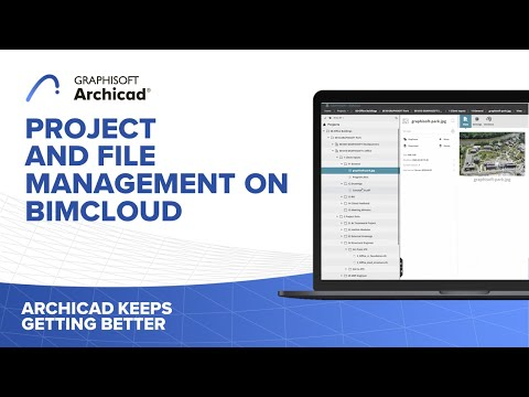 Project and File Management on BIMcloud