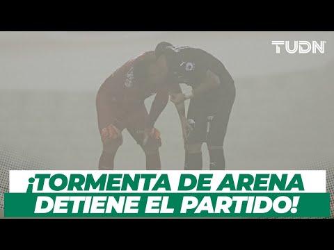 ¡INAUDITO! Tormenta de Arena en Torreón durante el Santos contra Rayados I TUDN