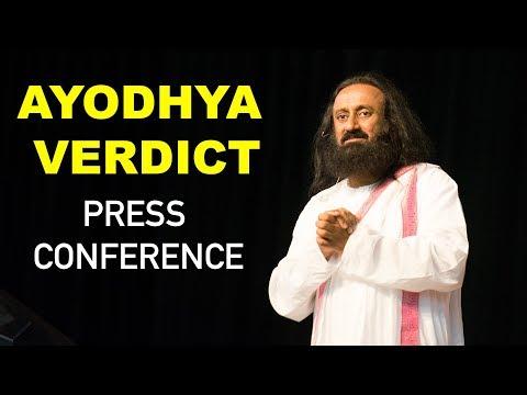 Ayodhya Verdict   Sri Sri Ravi Shankar's Press Conference   Ramjanmabhoomi Issue