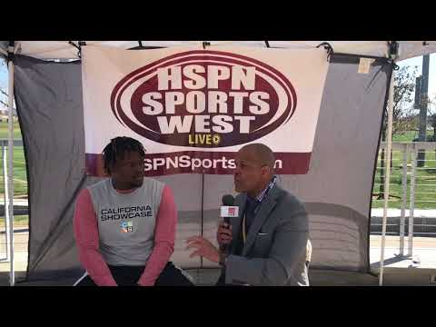INTERVIEW; Malik Rencher California Showcase - LIVE HIGH SCHOOL FOOTBALL & LIVE STREAM