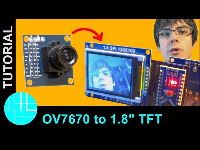 Arduino OV7670 live image to screen