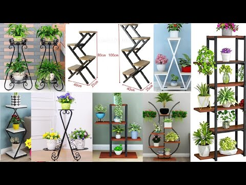 Metal frame plant stand ideas / metal plant stand plans / modern decorative plant stand ideas