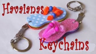 DIY crafts: How to make Havaianas key chain Ana | DIY Crafts.