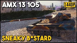 AMX13 105 - 9k Damage - 11 Kills - 1 vs 7 - World of Tanks