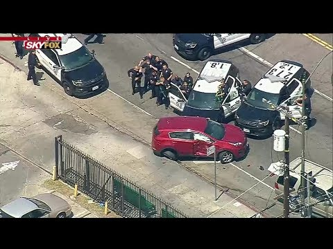 Pursuit suspect taken into custody after bizarre chase